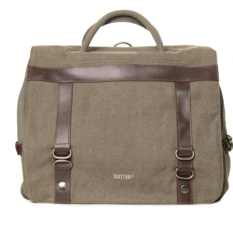 Binder in leather and hemp canvas