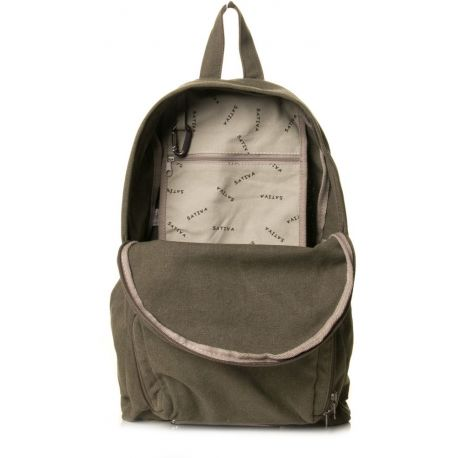 Foldable backpack in hemp and organic cotton