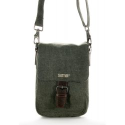 Bag canvas hemp and leather man