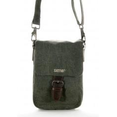 Bag canvas hemp and leather man