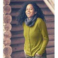 Gilet laine, coton bio et chanvre