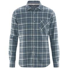 Camisa a cuadros de cáñamo y algodón orgánico