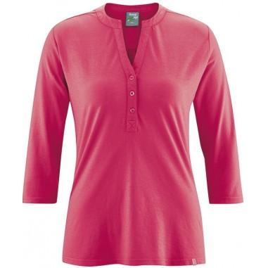 Organic cotton low-cut blouse / hemp