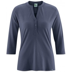 Bio-Baumwolle tief ausgeschnittene Bluse / Hanf