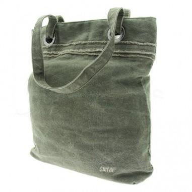 Canvas shoulder bag hemp and organic cotton