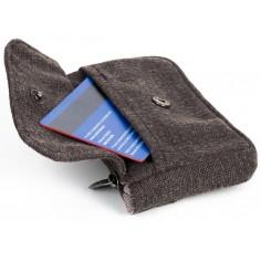 Währungshalter 3 Taschen - Bio-Baumwolle Hanf