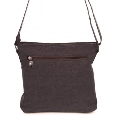 Canapa borsa a tracolla della tela di canapa e cotone biologico