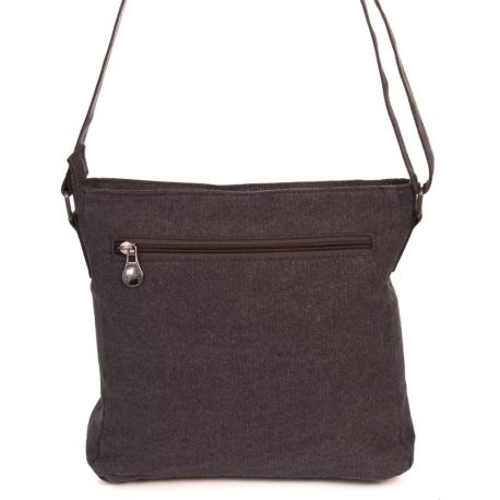 Canvas shoulder bag hemp and organic cotton