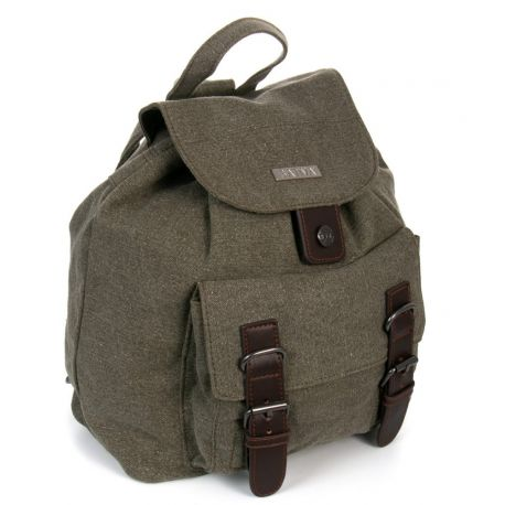Backpack canvas and leather