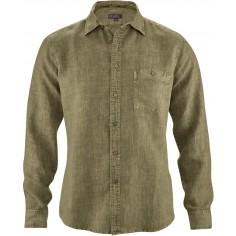 Pure camisa de cáñamo delgado - bolsillo en el pecho