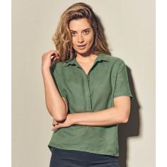 Blusa de mujer orgánica-cáñamo puro