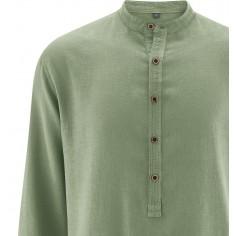 Camisa de cuello Mao