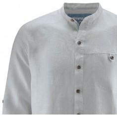 Camicia collo alla coreana - Canapa Pure