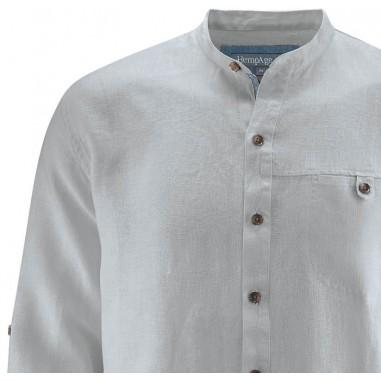 Mandarin collar shirt - Pure Hemp