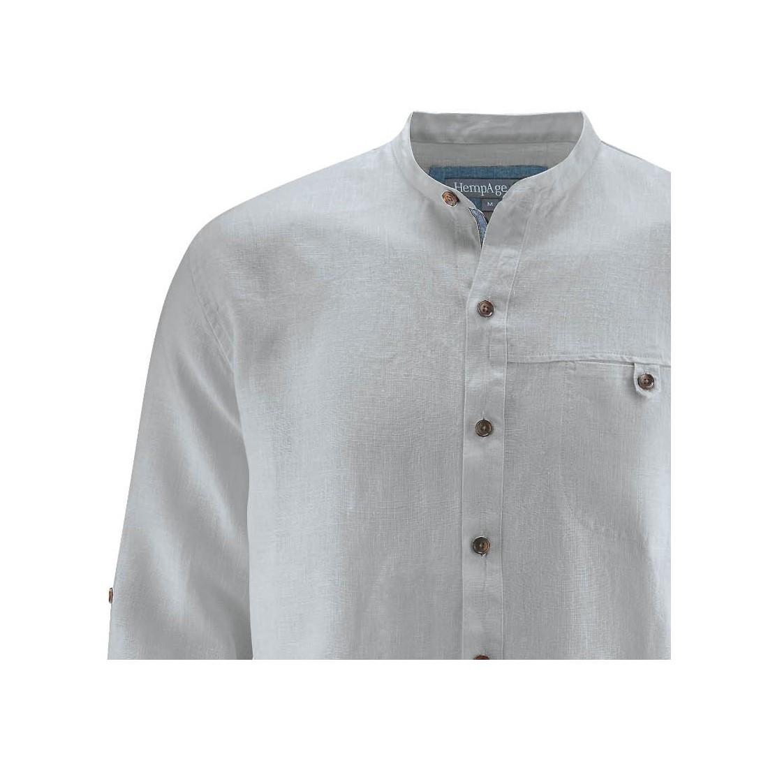 venta oficial Precio reducido códigos de cupón Camisa de cuello Mao - Comercio justo HempAge