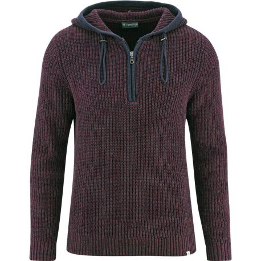 Winter sweater man cross col amount recycled hemp
