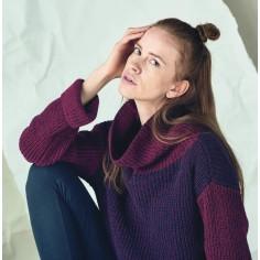 Große Turtleneck Pullover - Bio Damen Kleidung Saumseite