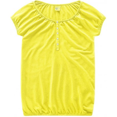 Woman bio yellow blouse