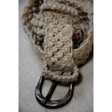 Hemp macramé belt
