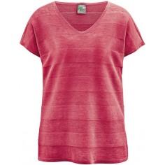 T-shirt con scollo a V in canapa pura - XL