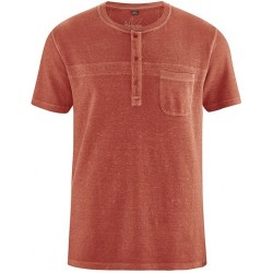 Organic cotton Henley neck Polo