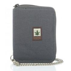 Portefeuille avec chaînette chanvre et coton bio