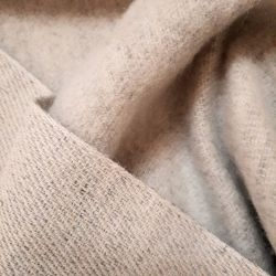 Hemp and wool fabric