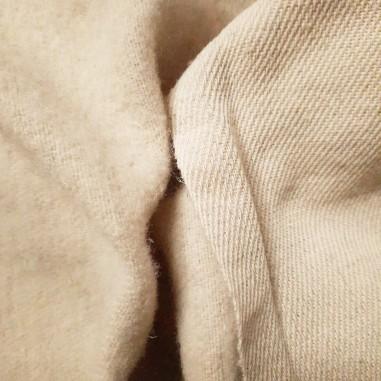 Hemp and wool fabric