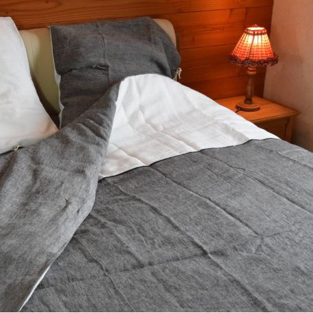 Pure washed hemp duvet cover