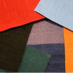 Tagliandi in tessuto colorato