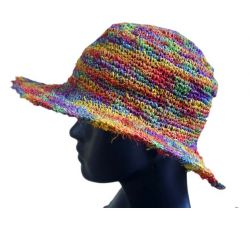 Hat hook hemp and cotton blue