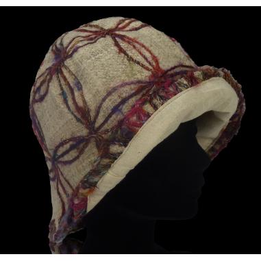 Cáñamo y sombrero de seda reciclado