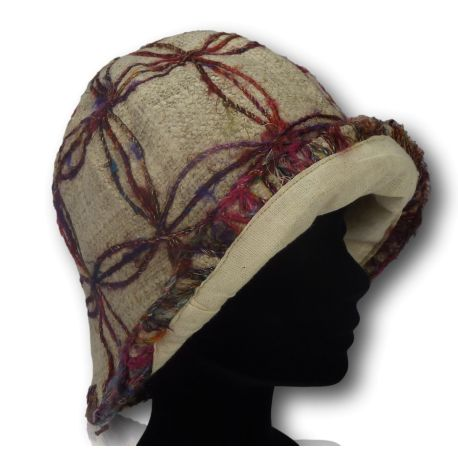 Hemp and recycled silk hat
